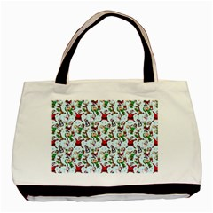 Christmas Pattern Basic Tote Bag (two Sides)