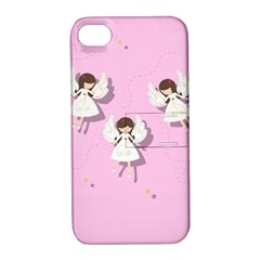 Christmas Angels  Apple Iphone 4/4s Hardshell Case With Stand