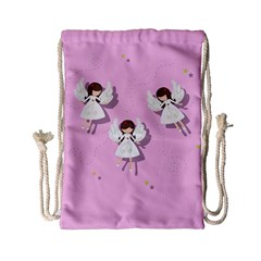 Christmas Angels  Drawstring Bag (small)