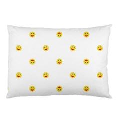 Happy Sun Motif Kids Seamless Pattern Pillow Case (two Sides)