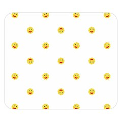 Happy Sun Motif Kids Seamless Pattern Double Sided Flano Blanket (small)