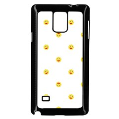 Happy Sun Motif Kids Seamless Pattern Samsung Galaxy Note 4 Case (black)