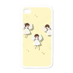 Christmas Angels  Apple Iphone 4 Case (white)