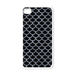 Scales1 Black Marble & Silver Paint (r) Apple Iphone 4 Case (white)