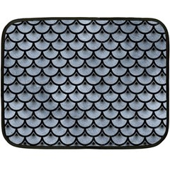 Scales3 Black Marble & Silver Paint Double Sided Fleece Blanket (mini)
