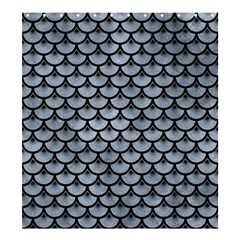Scales3 Black Marble & Silver Paint Shower Curtain 66  X 72  (large)