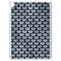 Scales3 Black Marble & Silver Paint Apple Ipad Pro 9 7   White Seamless Case