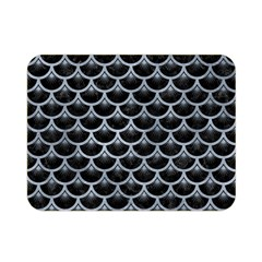 Scales3 Black Marble & Silver Paint (r) Double Sided Flano Blanket (mini)