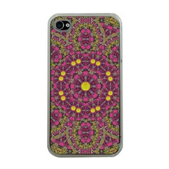 Butterflies  Roses In Gold Spreading Calm And Love Apple Iphone 4 Case (clear)