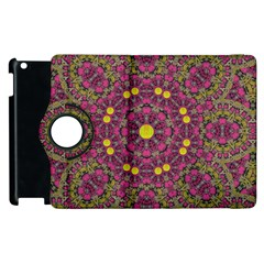Butterflies  Roses In Gold Spreading Calm And Love Apple Ipad 2 Flip 360 Case
