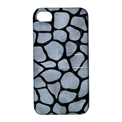 Skin1 Black Marble & Silver Paint (r) Apple Iphone 4/4s Hardshell Case With Stand