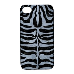 Skin2 Black Marble & Silver Paint (r) Apple Iphone 4/4s Hardshell Case With Stand