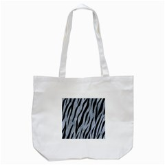 Skin3 Black Marble & Silver Paint Tote Bag (white)