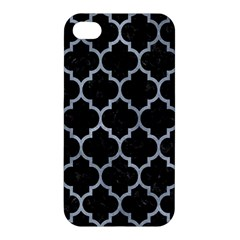 Tile1 Black Marble & Silver Paint (r) Apple Iphone 4/4s Hardshell Case