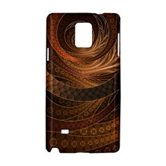 Brown, Bronze, Wicker, And Rattan Fractal Circles Samsung Galaxy Note 4 Hardshell Case
