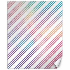 Colored Candy Striped Canvas 16  X 20