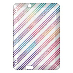 Colored Candy Striped Kindle Fire Hdx Hardshell Case