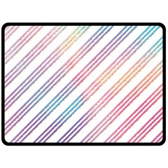 Colored Candy Striped Double Sided Fleece Blanket (large)