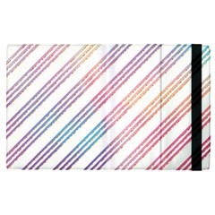 Colored Candy Striped Apple Ipad Pro 12 9   Flip Case