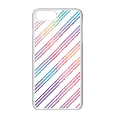 Colored Candy Striped Apple Iphone 7 Plus Seamless Case (white)