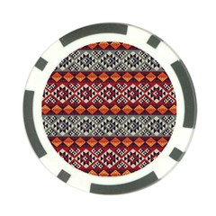 Aztec Mayan Inca Pattern 7 Poker Chip Card Guard (10 Pack)