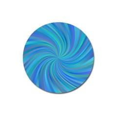 Blue Background Spiral Swirl Magnet 3  (round)
