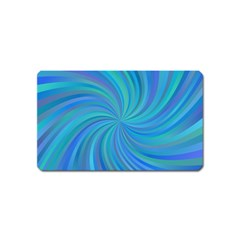 Blue Background Spiral Swirl Magnet (name Card)