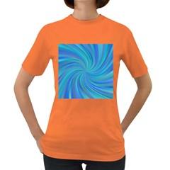 Blue Background Spiral Swirl Women s Dark T Shirt