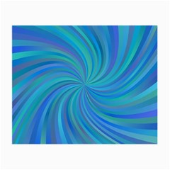 Blue Background Spiral Swirl Small Glasses Cloth (2 Side)