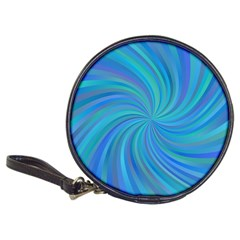 Blue Background Spiral Swirl Classic 20 Cd Wallets