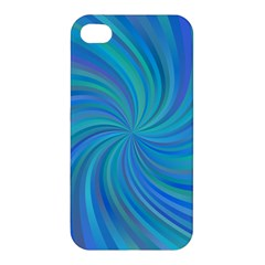 Blue Background Spiral Swirl Apple Iphone 4/4s Hardshell Case