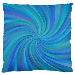Blue Background Spiral Swirl Large Cushion Case (two Sides)