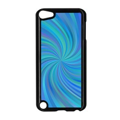 Blue Background Spiral Swirl Apple Ipod Touch 5 Case (black)