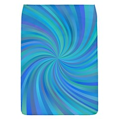 Blue Background Spiral Swirl Flap Covers (s)