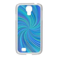 Blue Background Spiral Swirl Samsung Galaxy S4 I9500/ I9505 Case (white)