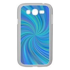 Blue Background Spiral Swirl Samsung Galaxy Grand Duos I9082 Case (white)