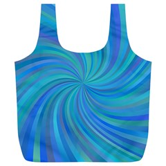 Blue Background Spiral Swirl Full Print Recycle Bags (l)