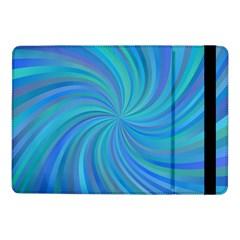 Blue Background Spiral Swirl Samsung Galaxy Tab Pro 10 1  Flip Case