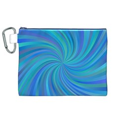 Blue Background Spiral Swirl Canvas Cosmetic Bag (xl)