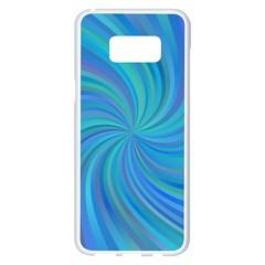 Blue Background Spiral Swirl Samsung Galaxy S8 Plus White Seamless Case