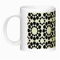 Black White Pattern Seamless Monochrome Night Luminous Mugs