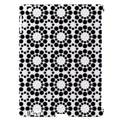 Black White Pattern Seamless Monochrome Apple Ipad 3/4 Hardshell Case (compatible With Smart Cover)