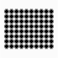 Black White Square Diagonal Pattern Seamless Small Glasses Cloth (2 Side)