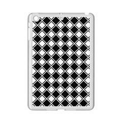 Black White Square Diagonal Pattern Seamless Ipad Mini 2 Enamel Coated Cases