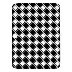 Black White Square Diagonal Pattern Seamless Samsung Galaxy Tab 3 (10 1 ) P5200 Hardshell Case