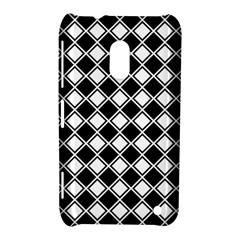 Black White Square Diagonal Pattern Seamless Nokia Lumia 620