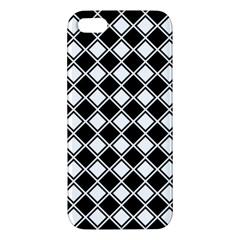 Black White Square Diagonal Pattern Seamless Iphone 5s/ Se Premium Hardshell Case