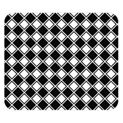 Black White Square Diagonal Pattern Seamless Double Sided Flano Blanket (small)