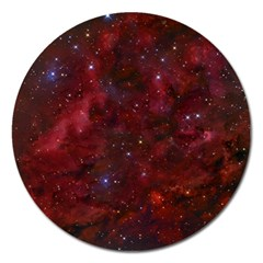 Abstract Fantasy Color Colorful Magnet 5  (round)