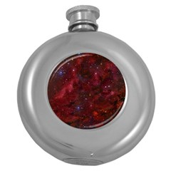 Abstract Fantasy Color Colorful Round Hip Flask (5 Oz)